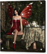 Fairy Tea Time Acrylic Print