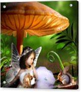 Fairy Woodland Acrylic Print by Julie L Hoddinott