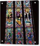 Faith In Stained Glass  Acrylic Print