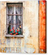 Fake Flowers On Window Acrylic Print