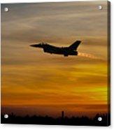 Falcon Sunset Acrylic Print