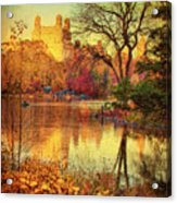 Fall Afternoon In Central Park Acrylic Print