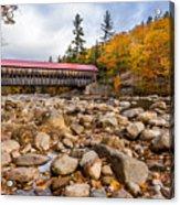 Fall At Albany Covered Bridge Acrylic Print