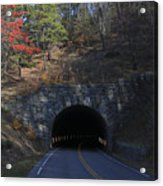 Fall At Bluff Mountain Tunnel Acrylic Print