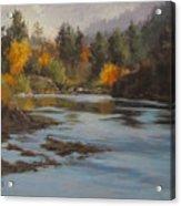 Fall At Colliding Rivers Acrylic Print