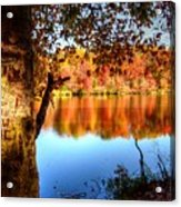 Fall At Lake Acrylic Print