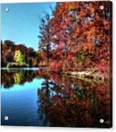 Fall At The Crosspointe Lake Acrylic Print