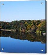 Fall At The Riverbend Panoramic Acrylic Print