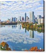 Fall Austin Skyline Acrylic Print