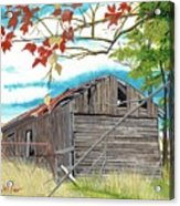 Fall Barn Acrylic Print