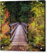 Fall Bridge Acrylic Print