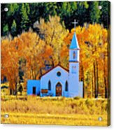 Fall Church Acrylic Print