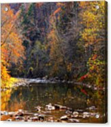 Fall Color Elk River Acrylic Print by Thomas R Fletcher