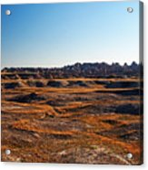 Fall Color In The Badlands Acrylic Print