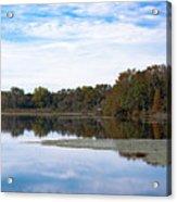 Fall Color On The Pond Acrylic Print