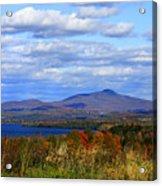 Fall Colors At Lake Carmi Acrylic Print