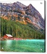Fall Colors At Lake Louise Alberta  Acrylic Print