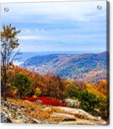 Fall Colors From Bear Mountain Acrylic Print