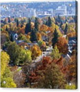Fall Colors In Spokane From The Post Street Hill Acrylic Print