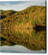 Fall Colors On Lake Reflection Acrylic Print
