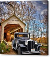 Fall Country Drive Acrylic Print by Bill Dutting