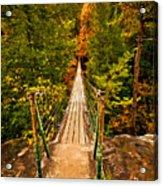 Fall Creek Falls Bridge Acrylic Print