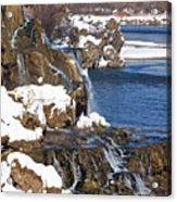 Fall Creek Falls In Winter Acrylic Print