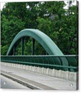 Fall Creek Gorge Bridge Cornell University Ithaca New York Acrylic Print