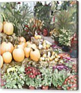 Fall Decorating At The Market Acrylic Print