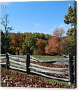 Fall fence Acrylic Print