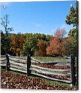Fall Fence Acrylic Print