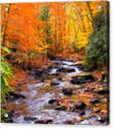 Fall Fire Acrylic Print