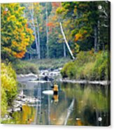 Fall Fishing Acrylic Print