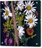 Fall Floral Collage Acrylic Print