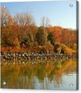 Fall Fog Reflections Acrylic Print