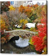 Fall Foliage In Central Park Acrylic Print