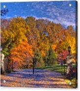 Fall Foliage Gated Estate Acrylic Print