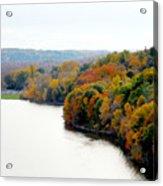 Fall Foliage In Hudson River 13 Acrylic Print