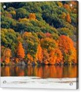 Fall Foliage In Hudson River 14 Acrylic Print