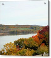 Fall Foliage In Hudson River 5 Acrylic Print