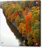 Fall Foliage In Hudson River 6 Acrylic Print