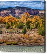 Fall Foliage Near Ghost Ranch Acrylic Print