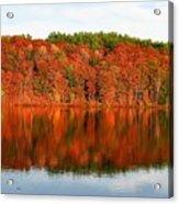 Fall Foliage Reflection Kennebec River Hallowell Acrylic Print
