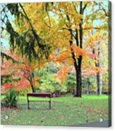 Fall In Brown County Acrylic Print