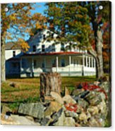 Fall In Connecticut Acrylic Print