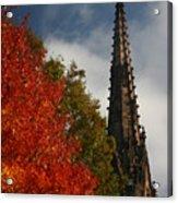 Fall In Garden City Ny. Acrylic Print