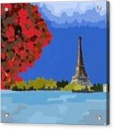 Fall In Paris Acrylic Print