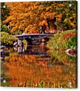 Fall In The Japanese Gardens Acrylic Print