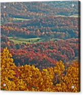 Fall In The Valley Acrylic Print