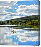 Fall Kayaking Reflection Landscape Acrylic Print